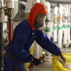 Bilden visar ISKADs asbestsanering