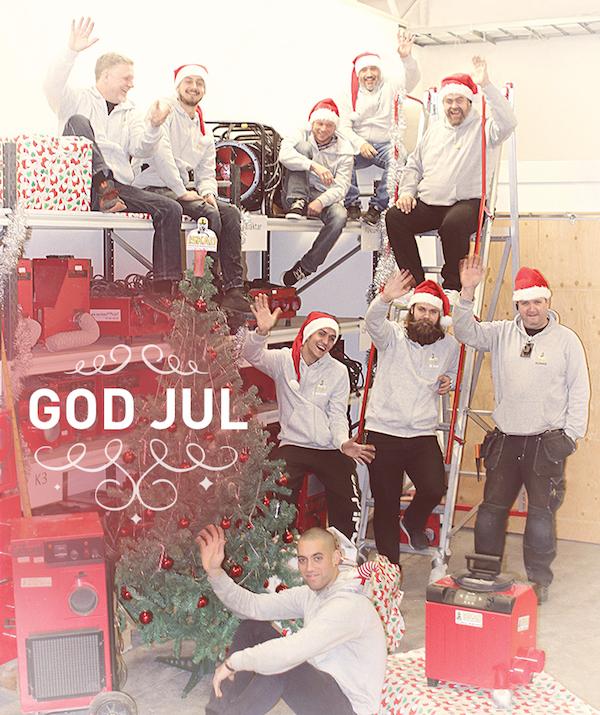 God jul önskar Iskad